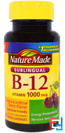 Sublingual B-12, Nature Made, 1000 mcg, 50 Micro - Lozenges