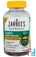 Toddler Multivitamin, Sweetened with Honey, Zarbee's, 110 Gummies