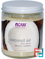 Coconut Oil, Natural, Now Foods, 207 ml
