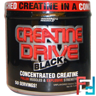 Creatine Drive, Black, Concentrated Creatine, Nutrex Research Labs, 150 g