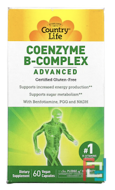 Coenzyme B-Complex, Advanced, Country Life, 60 Vegetarian Capsules