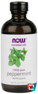 Essential Oils, Peppermint, Now Foods, 118 ml