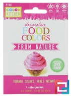 Decorative, Food Colors From Nature, Pink, ColorKitchen, 1 Color Packet, 0.088 oz (2.5 g)