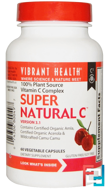Super Natural C, Version 3.1, Vibrant Health, 60 Veggie Caps