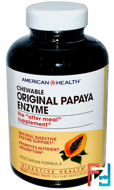 Original Papaya Enzyme, American Health, 600 Chewable Tablets