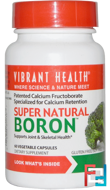 Super Natural Boron, Vibrant Health, 60 Veggie Caps