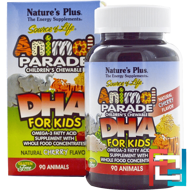 Source of Life, DHA for Kids, Animal Parade, Children's Chewable, Natural Cherry Flavor, Nature's Plus, 90 Animals