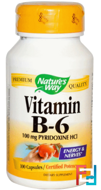 Vitamin B-6, Nature's Way, 100 Capsules