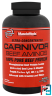 Carnivor Beef Aminos, 100% Pure Beef Protein, MuscleMeds, 300 Tablets