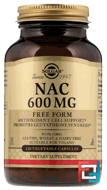 NAC, Solgar, 600 mg, 120 Vegetable Capsules
