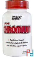 Lipo-6 Chromium, Nutrex Research Labs, 100 Liquid Capsules