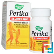Perika, St. John's Wort, Nature's Way, 60 Tablets