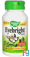 Eyebright Herb, Nature's Way, 430 mg, 100 Capsules