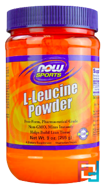 L-Leucine Powder, Now Foods, 255 g