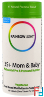 35+ Mom & Baby, Rainbow Light, 60 Tablets