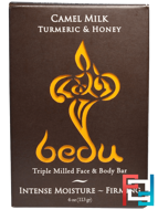 Triple Milled Face & Body Bar, Camel Milk Turmeric & Honey, One with Nature, 4 oz, 113 g