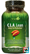C.L.A. Lean, Body Fat Reduction, Irwin Naturals, 80 Liquid Soft-Gels