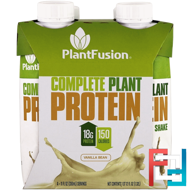 Complete Plant Protein, Vanilla Bean, PlantFusion, 4 Pack, 11 fl oz (330 ml) Each