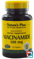 Niacinamide, Nature's Plus, 500 mg, 90 Tablets