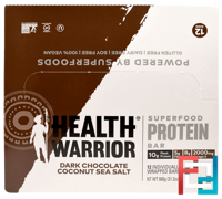 Superfood Protein Bar, Dark Chocolate Coconut Sea Salt, Health Warrior, Inc., 12 Bars, 50 g Each