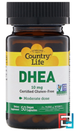 DHEA, Country Life, 10 mg, 50 Vegetarian Capsules