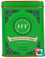 HT Tea Blend, Organic Plain Green, 20 Tea Sachets, Harney & Sons, 1.4 oz, 40 g