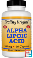 Alpha Lipoic Acid, 300 mg, Healthy Origins, 60 Capsules