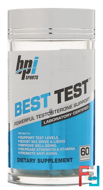 Best Test, Powerful Testosterone Support, BPI Sports, 60 Capsules