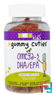 Kids, Gummy Cuties, Omega-3 DHA/EPA, Natural Dynamix, 60 Gummy Cuties