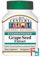 Grape Seed Extract, 21st Century, 60 Veggie Caps