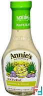 Lemon & Chive Dressing, Annie's Naturals, 8 fl oz (236 ml)