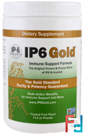 IP6 Gold, Immune Support Formula, Tropical Fruit Flavor, IP-6 International, 14.6 oz Powder