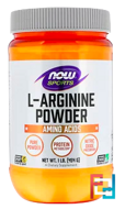 L-Arginine Powder, Now Foods, 454 g