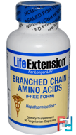 Branched Chain Amino Acids, Life Extension, 90 Veggie capsules
