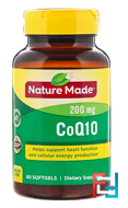 CoQ10, Nature Made, 200 mg, 80 Softgels