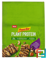 Plant Protein, Dark Chocolate Salted Caramel Cashew, PowerBar, 15 Bars, 1.76 oz (50 g) Each