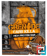 Carb Killa Bars, Chocolate Crunch, Grenade, 12 Bars, 2.12 oz (60 g) Each