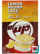 B-UP Protein Bar, Lemon Pound Cake, YUP, 12 Bars, 2.3 oz (65 g) Each