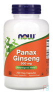Panax Ginseng, Now Foods,500 mg, 250 Capsules