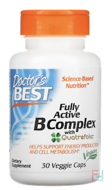 Best Fully Active B Complex, Doctor's Best, 30 Veggie Caps