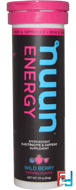 Energy, Effervescent Electrolyte & Caffeine Supplement, Nuun, Wild Berries, 10 Tablets