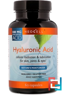 Hyaluronic Acid, Nature's Moisturizer, Neocell, 60 Capsules