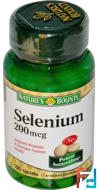 Selenium, 200 mcg, Nature's Bounty, 100 Tablets