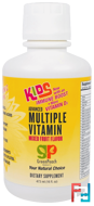 Kids, Advanced Multiple Vitamin, Mixed Fruit Flavor, GreenPeach, 16 fl oz, 473 ml