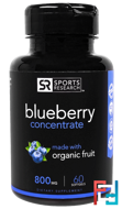 Blueberry Concentrate, Sports Research, 800 mg, 60 Softgels
