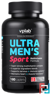 Ultra Men's Sport Multivitamin Formula, VP Laboratory,  180 capsules