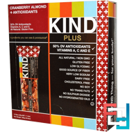 Kind Plus, Cranberry Almond + Antioxidants  Bars, KIND Bars, 12 Bars, 1.4 oz (40 g) Each
