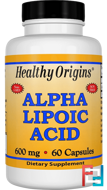 Alpha Lipoic Acid, Healthy Origins, 600 mg, 60 Capsules