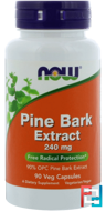 Pine Bark Extract, 240 mg, Now Foods, 90 Veg Capsules