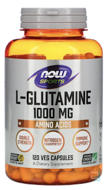 L-Glutamine, Double Strength, Now Foods, 1000 mg, 120 Capsules